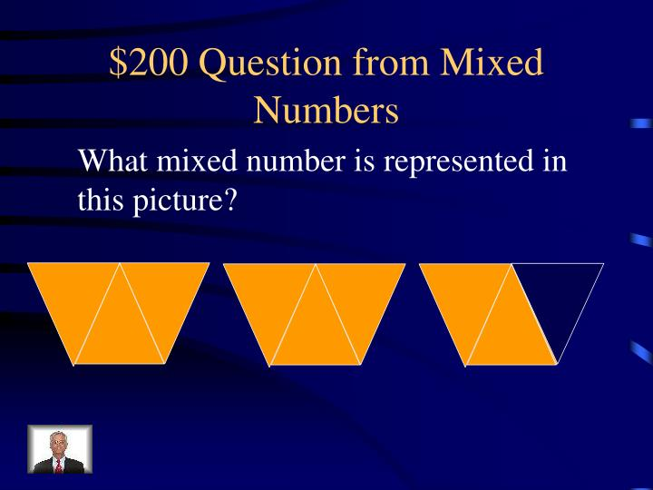 $200 Question from Mixed Numbers