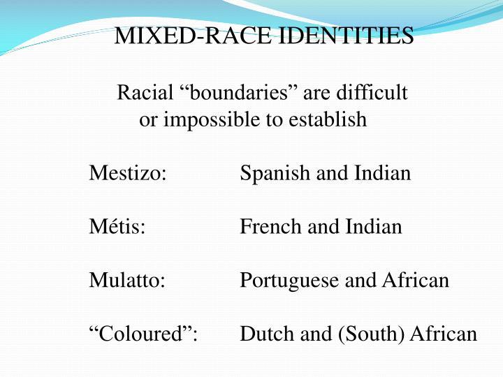 MIXED-RACE IDENTITIES