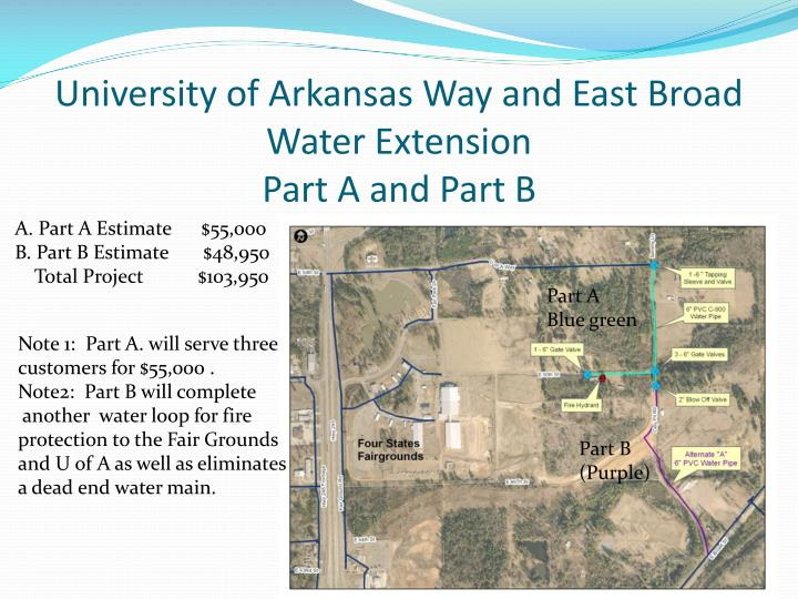 University of Arkansas Way and East Broad Water Extension