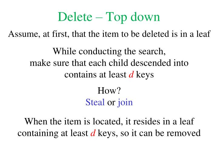 Delete – Top