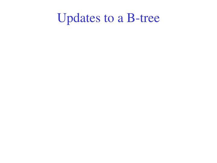 Updates to