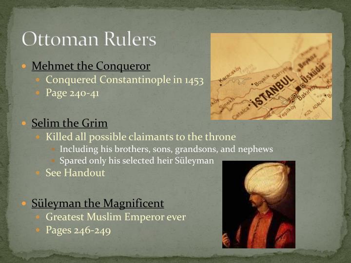 Ottoman Rulers