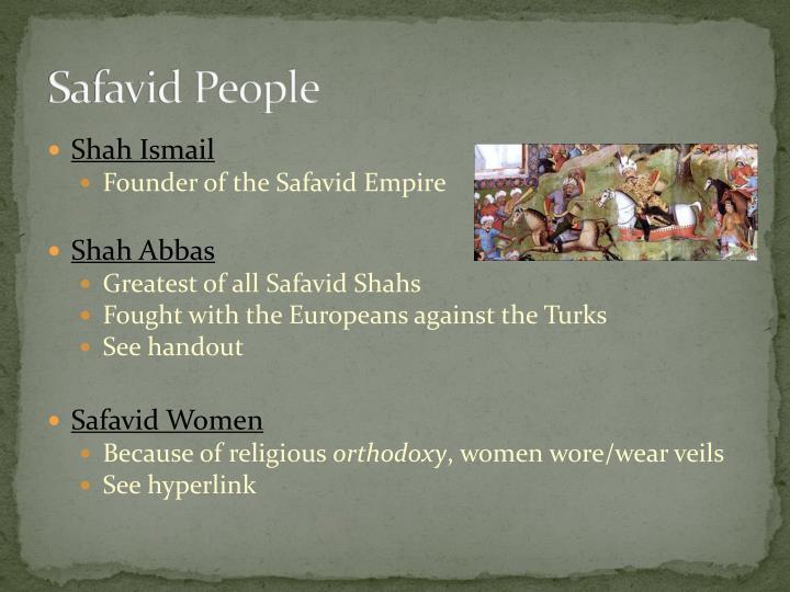 Safavid People