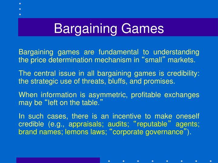 Bargaining Games
