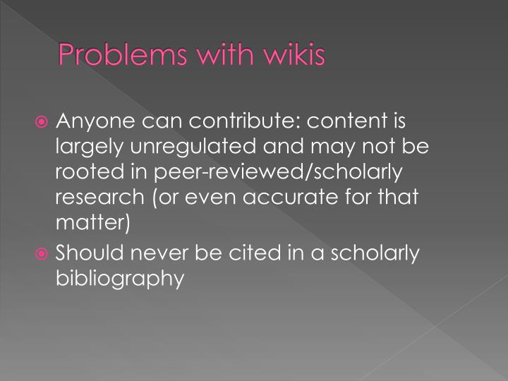 Problems with wikis