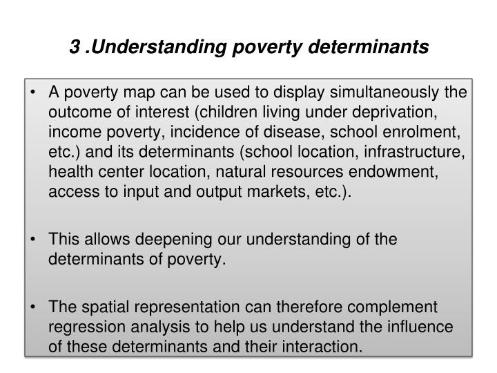 3 .Understanding poverty determinants