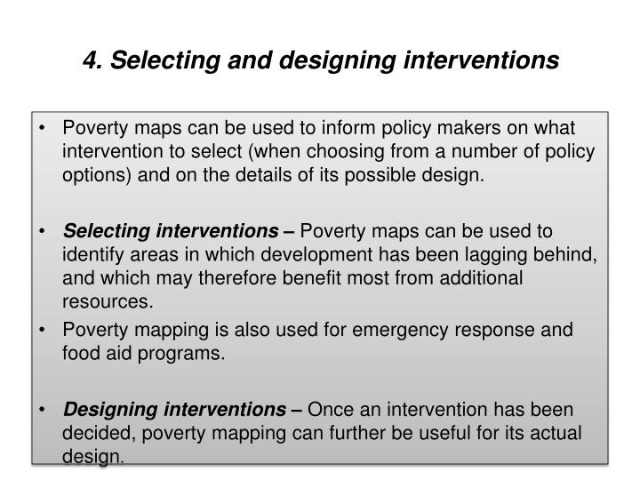 4. Selecting and designing interventions