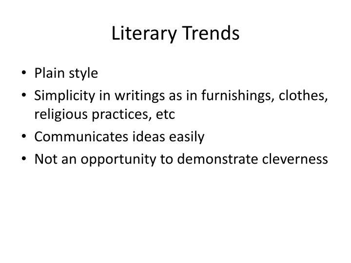Literary Trends