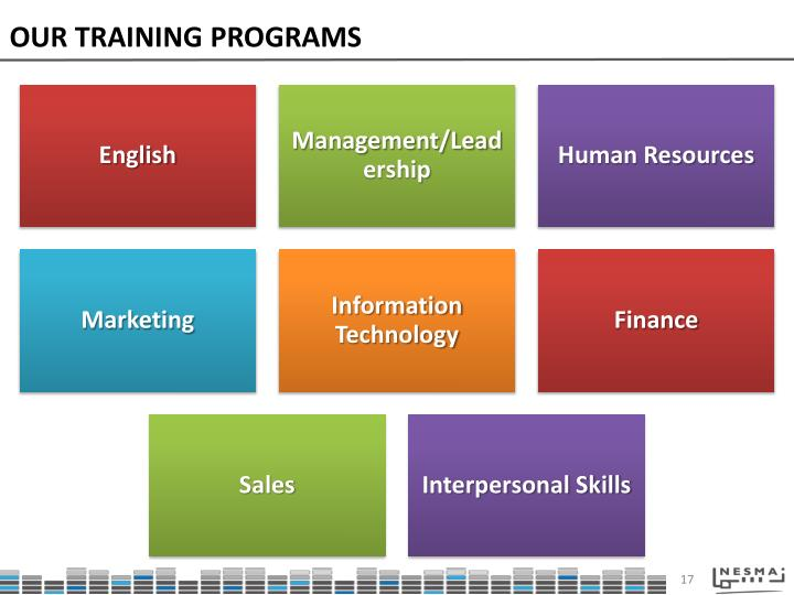 OUR TRAINING PROGRAMS