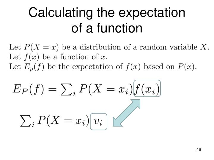 Calculating the expectation