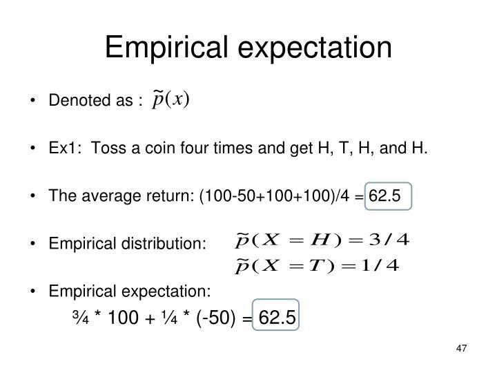 Empirical expectation