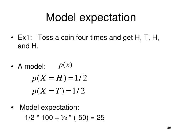 Model expectation