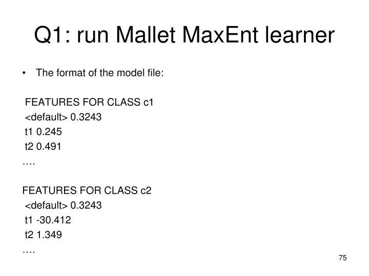 Q1: run Mallet