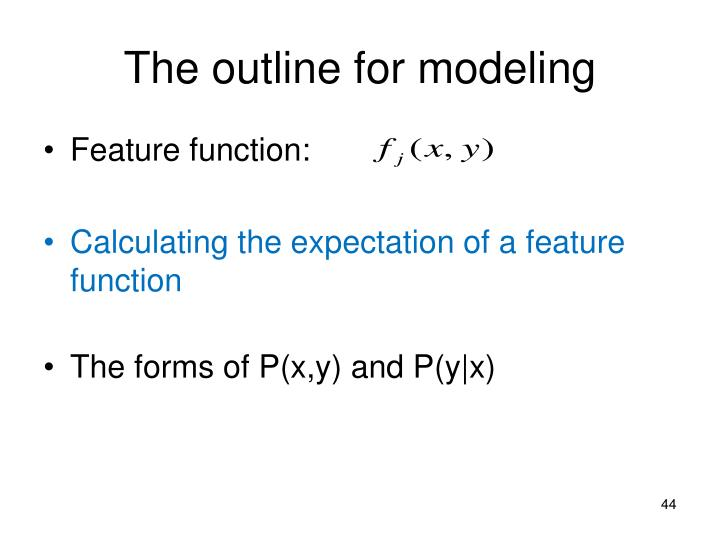 The outline for modeling
