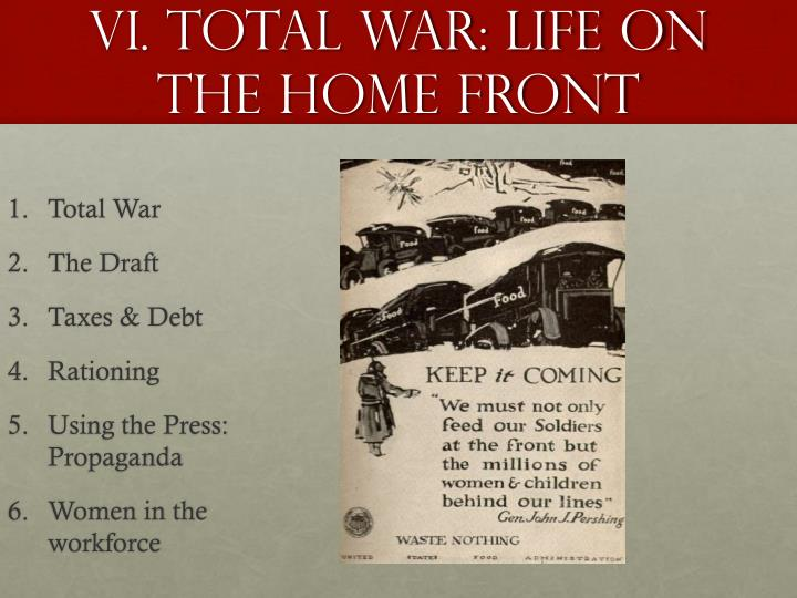 VI. Total war: Life on the Home front