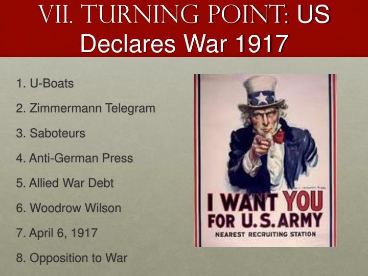 VII. Turning point: