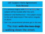 sat subject verb agreement rule review