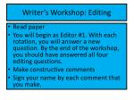 writer s workshop editing