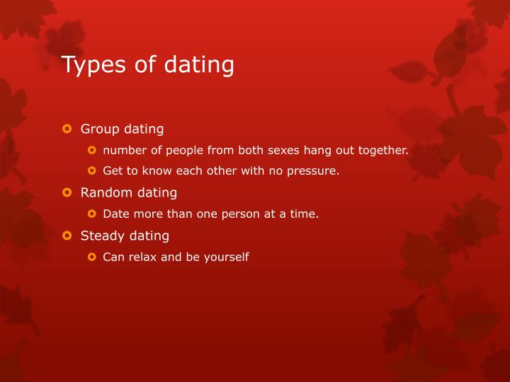 Types of dating