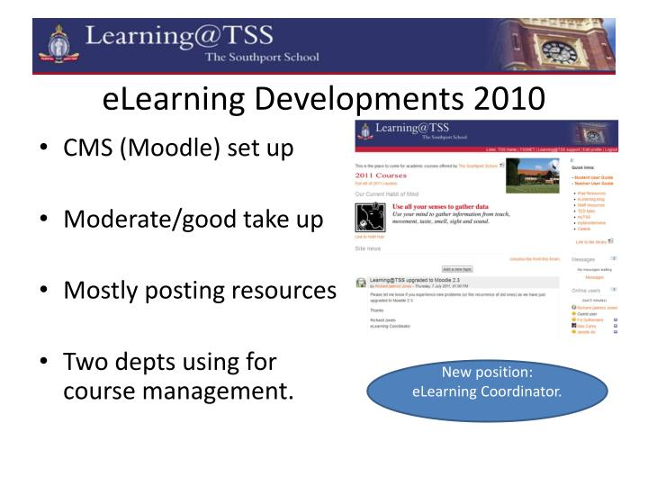 eLearning Developments 2010