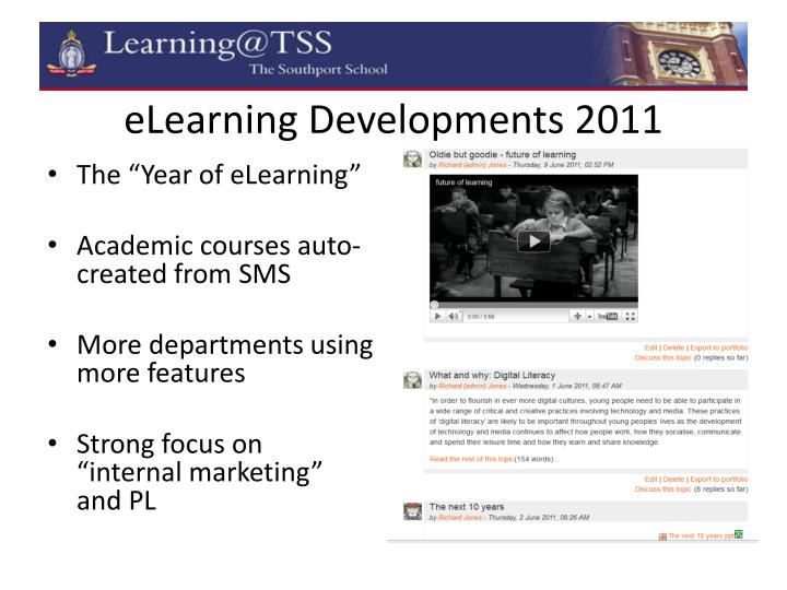 eLearning Developments