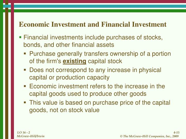 Economic Investment and Financial Investment