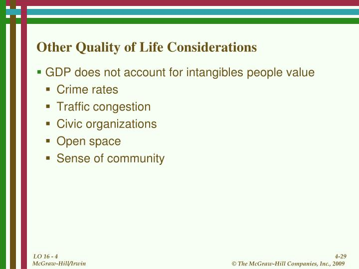 Other Quality of Life Considerations