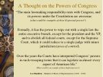 a thought on the powers of congress