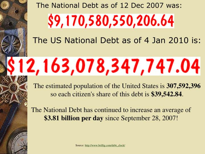 The National Debt as of 12 Dec