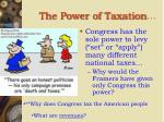 the power of taxation