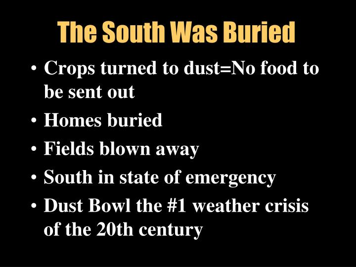 The South Was Buried