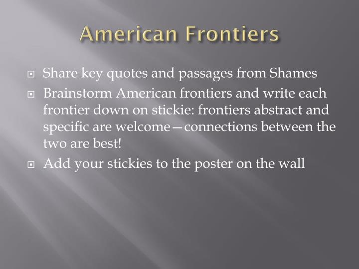 American frontiers