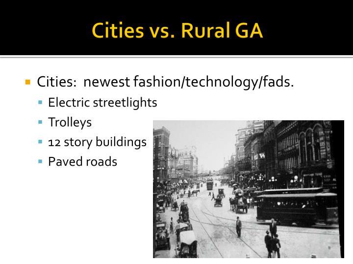 Cities vs. Rural GA