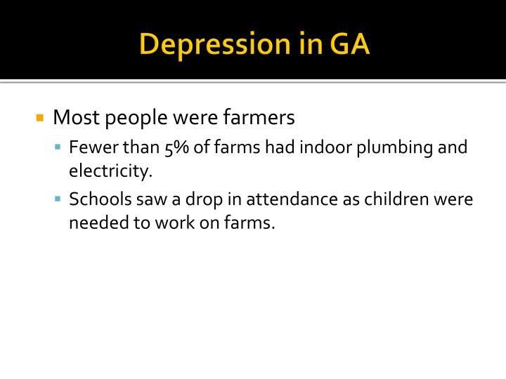 Depression in GA