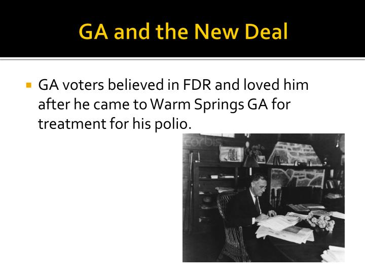 GA and the New Deal