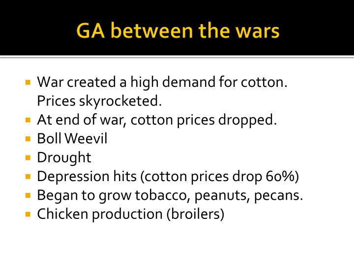 GA between the wars