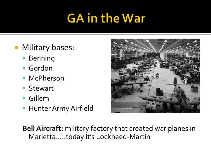 GA in the War