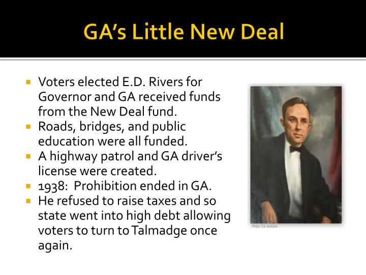 GA's Little New Deal