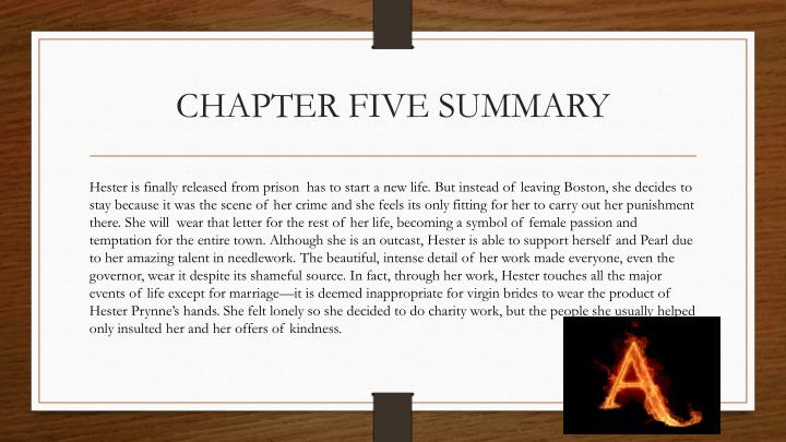 CHAPTER FIVE SUMMARY
