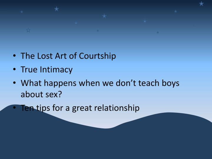 The Lost Art of Courtship