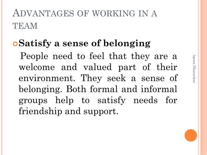 the benefits of working in groups The benefits of collaborative learning include: development of higher-level thinking what are some examples of collaborative learning or group work activities.