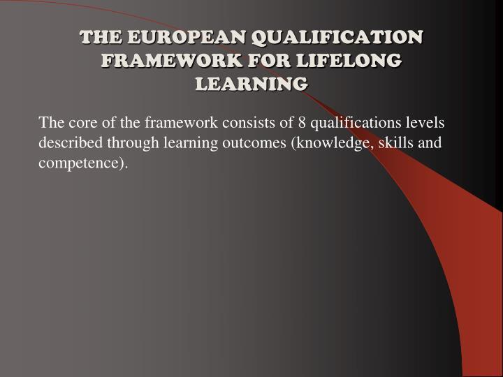 THE EUROPEAN QUALIFICATION FRAMEWORK FOR LIFELONG LEARNING