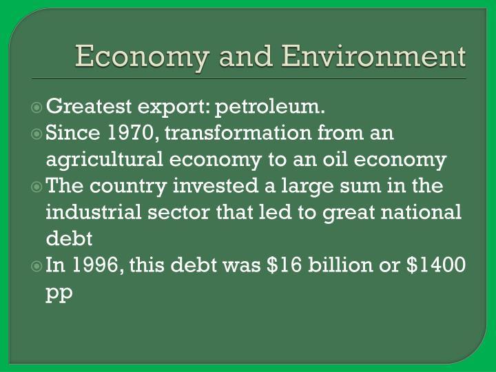 Economy and Environment