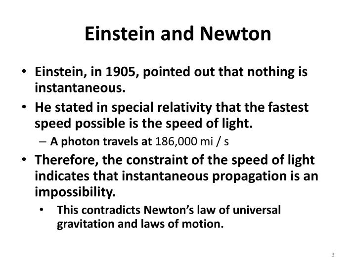 Einstein and newton1
