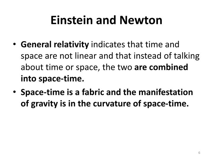 Einstein and Newton