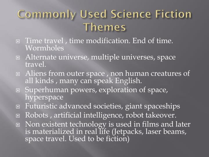 Commonly Used Science Fiction Themes