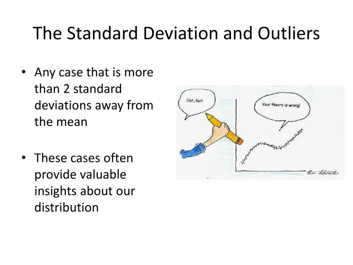 The Standard Deviation and Outliers