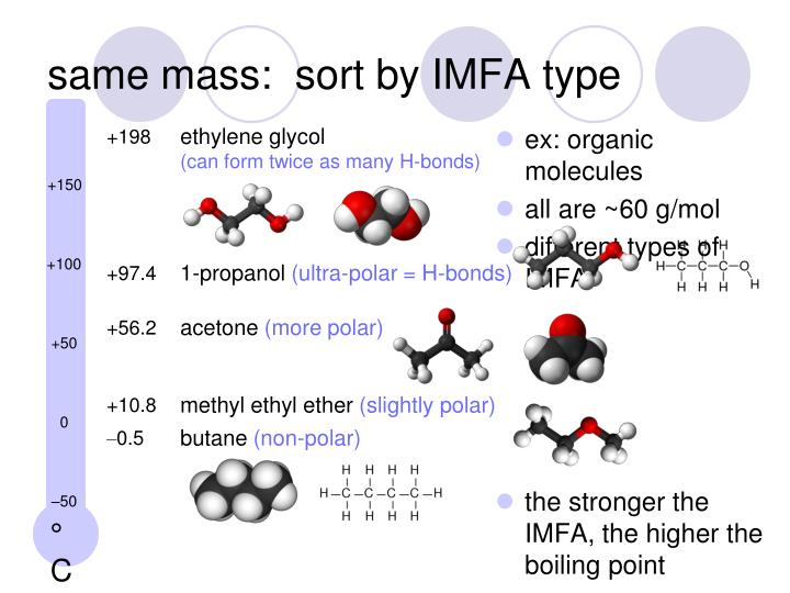 same mass:  sort by IMFA type