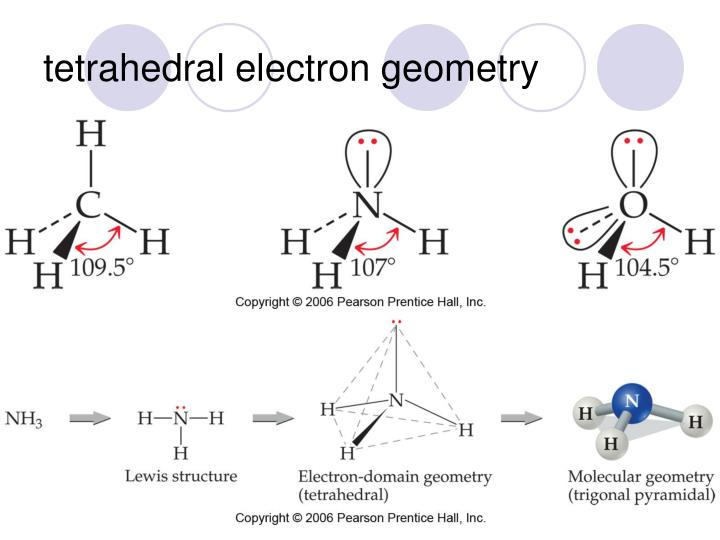tetrahedral electron geometry