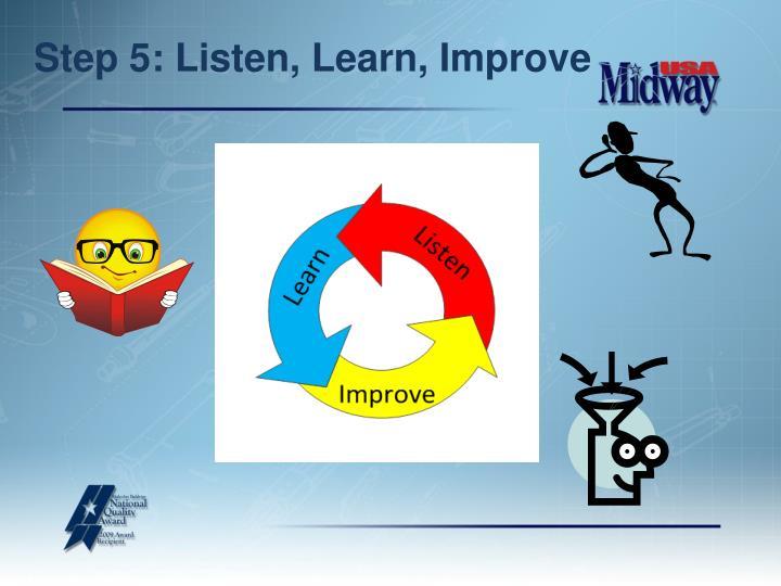 Step 5: Listen, Learn, Improve